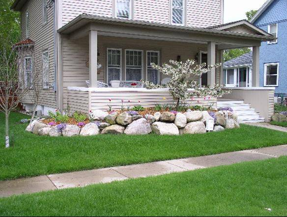 How To Landscape Around A New House : Rock garden around house gardening picture books